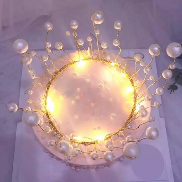 Pearl Crown Cake Topper