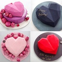 Heart Shape Pinata Mousse Cake Mold