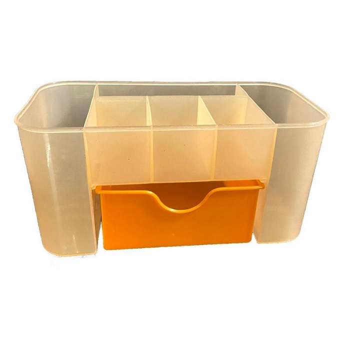 Partition Desktop Storage Organiser With Drawer (Random Color)