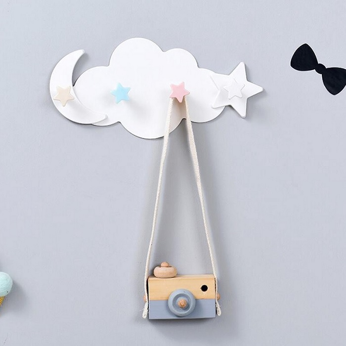 Moon Star Wall - Mounted Hook Holder