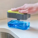 Liquid Soap Pump Dispenser With Sponge Holder (Pack Of 3 Pcs)