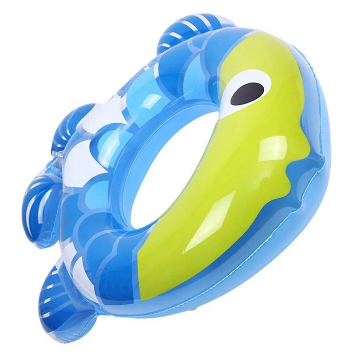 Fish Shape Kids Swimming Ring Seat Boat (Random)