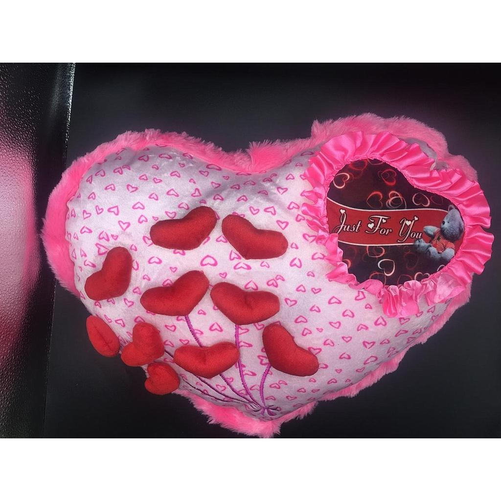 Just For you Heart shape Pillow (Pink)