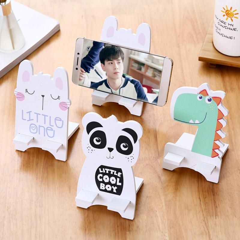 MDF Mobile Cartoon Character Mobile Holder (Random)