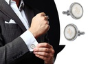 2 Pcs Cufflinks with Horse Logo For Men