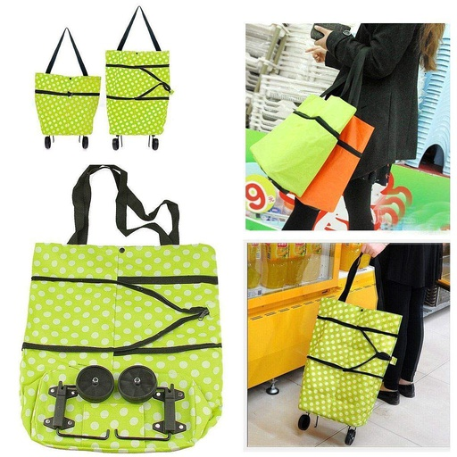 [HL0038] Printed Foldable Shopping Trolley Bag