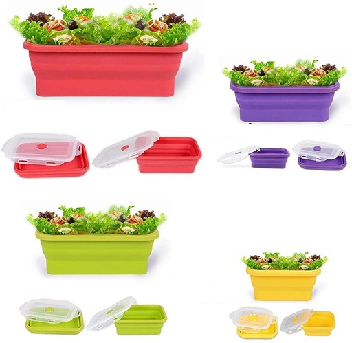 Silicone Foldable Lunch Box Container