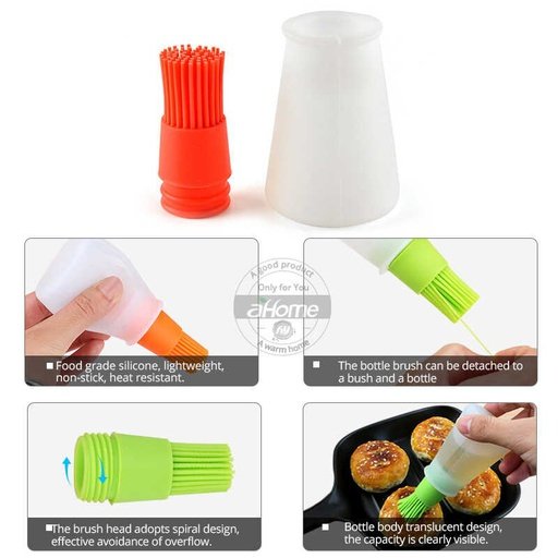 [HL0336] Silicone Oil Bottle Brush (Random Colors)