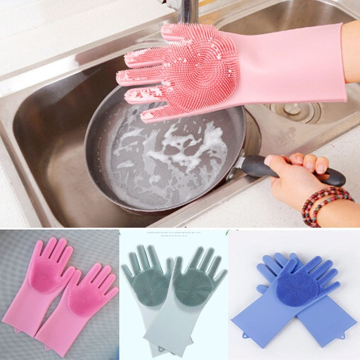 Silicone Scrubbing Hand Gloves for Dish Washing