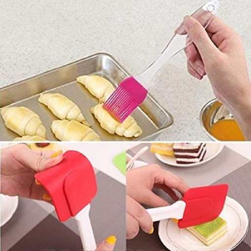 [HL1356] Silicone Spatula and Pastry Brush Set (Big)
