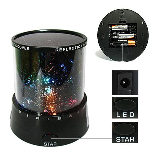 [Hl1022] Star Master Night Projector Colorful LED Table Lamp(Small)