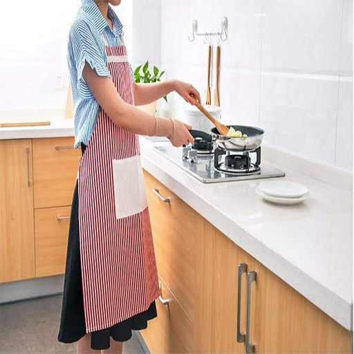 [HL1835] Stripe Canvas Apron (Random Color)