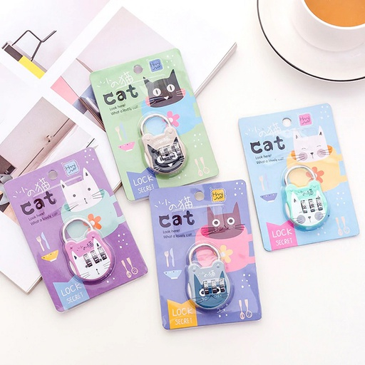 [HL2072] Cute Cat Suitcase Padlock